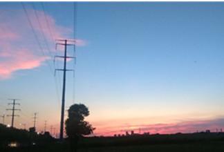 傍晚火燒云有點美